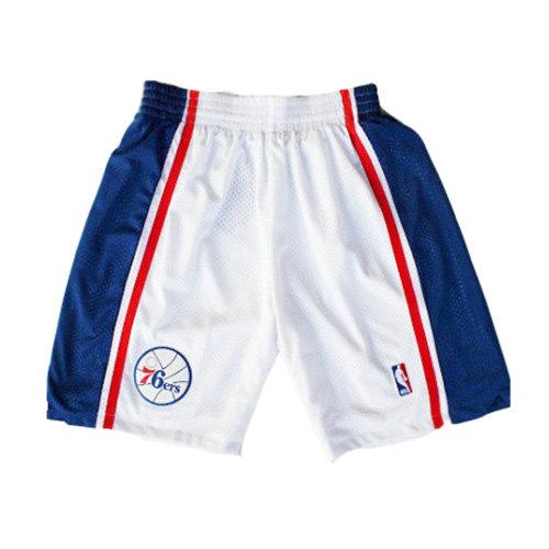 Pantalones cortos de baloncesto para hombre malla transpirable y repetible reduce el sudor azul color blanco rojo dise/ño de Philadelphia LMSSS 76ers